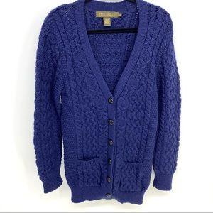 Aran Inis Crafts Wool Chunky Cardigan Sweater